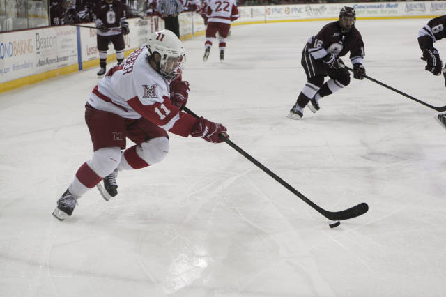 Freshman forward Riley barber has been nothing short of sensational so far
