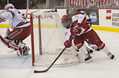 Riley Barber currently leads the NCAA with 7 points after 1 week. (Michael Griggs/Miami University Athletics)