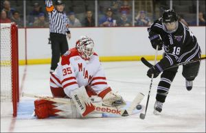 Ryan McKay hasn't allowed a goal on Friday night  this season. (Toledo Blade: Andy Morrison)