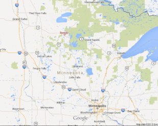 "Bemidji, Minn. is way ""up north."""