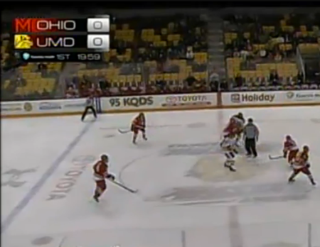 Apparently, the Bobcats of Ohio University were UMD's opponent in front of dozens of fans last night at Amsoil Arena.