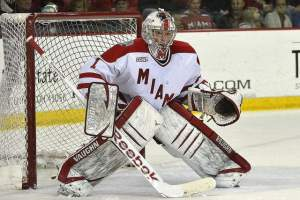 Miami goalie Jay Williams (photo by Cathy Lachmann).