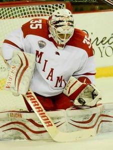 Miami goalie Ryan McKay (photo by Cathy Lachmann).