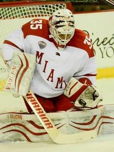 Miami goalie Ryan McKay (photo by Cathy Lachmann).