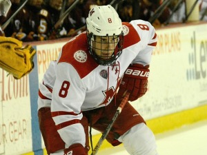 Matthew Caito as a junior (photo by Cathy Lachmann).