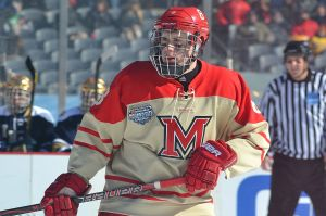 Matthew Caito at the outdoor game at Soldier Field in 2013 (photo by Cathy Lachmann).