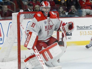 Miami goalie Ryan Larkin (photo by Cathy Lachmann/BoB).