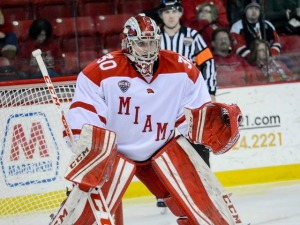 Miami goalie Chase Munroe (photo by Cathy Lachmann/BoB).