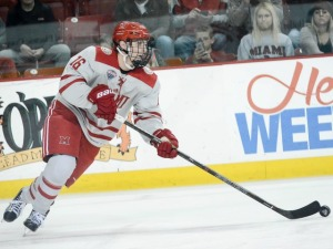 Miami defenseman Jared Brandt (photo by Cathy Lachmann/BoB).